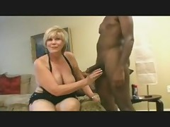 Sexy mature blonde take on to black bulls